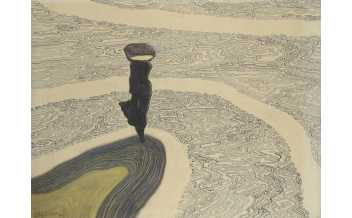 Léon Spilliaert, Woman at the Shoreline, 1910. Indian ink, coloured pencil and pastel on paper, 49 x 60 cm. Private collection. Photo: © Cedric Verhelst