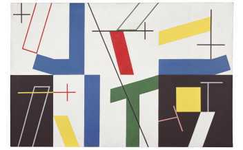Sophie Taeuber-Arp Six Spaces with Four Small Crosses 1932. Oil paint and graphite on canvas 65 × 100 Kunstmuseum Bern. Gift of Marguerite Arp-Hagenbach