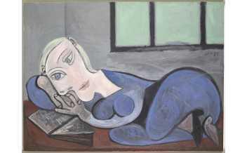 Pablo Picasso, « Femme couchée lisant », 21 Janvier 1939, Huile sur toile, 96 x 135 cm, MP177, Musée national Picasso-Paris © RMN-Grand Palais (Musée national Picasso-Paris) / Adrien Didierjean, © Succession Picasso 2020